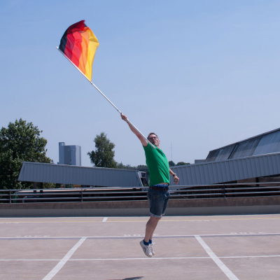 Deutschland Multicolor Flagge-Flo-High