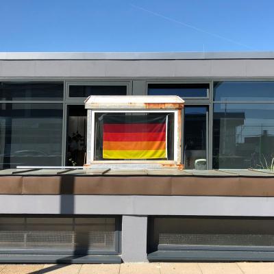 Deutschland Multicolor Flagge-Häuschen